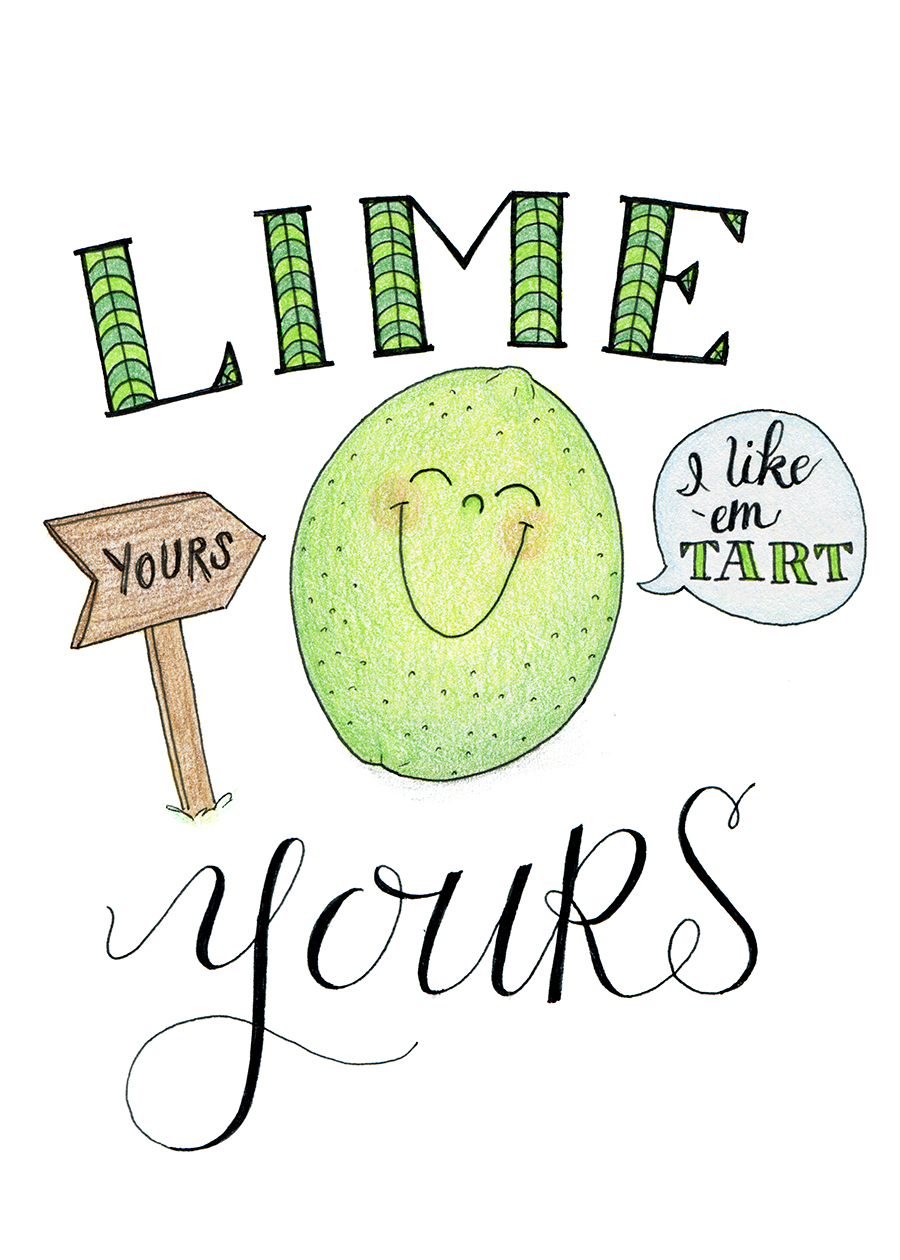 Ink Drawings - Fruit Puns