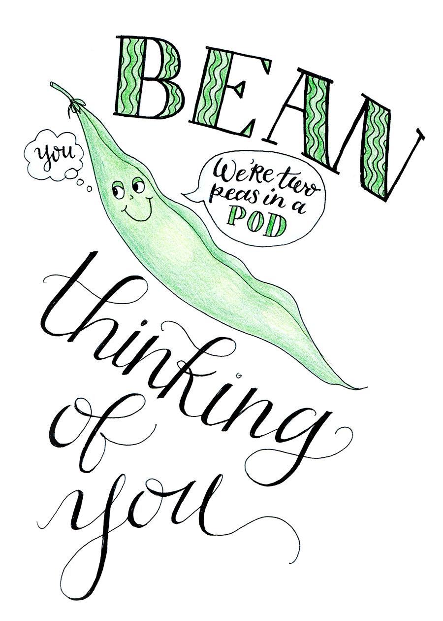 Ink Drawings - Veggie Puns