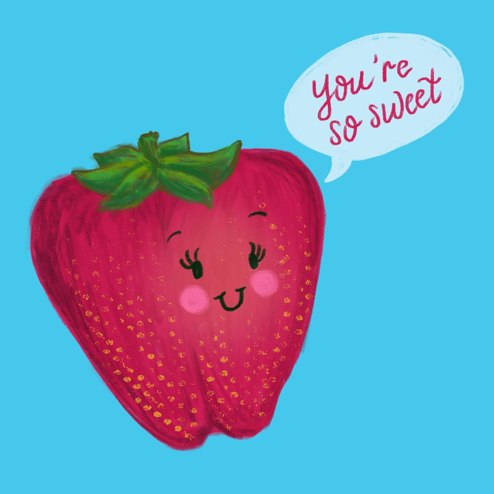 Punny Food - Strawberry