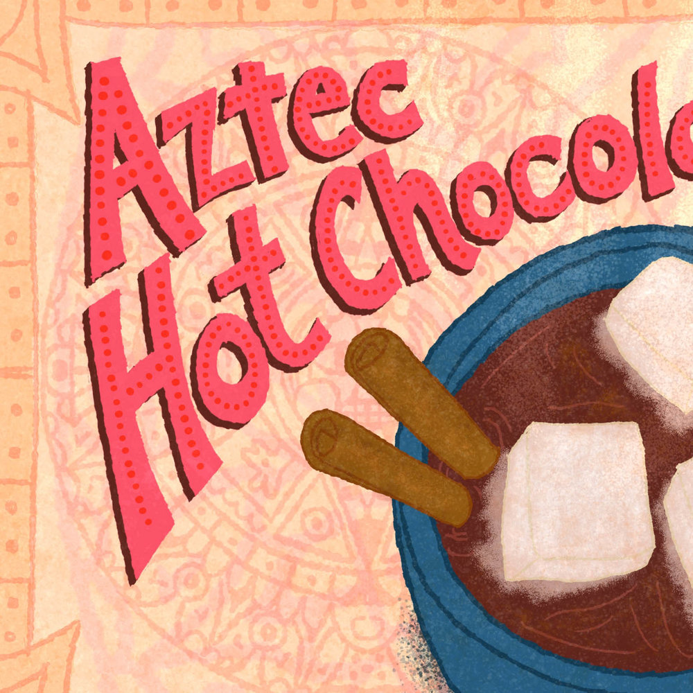 Aztec Hot Chocolate Recipe Illustration