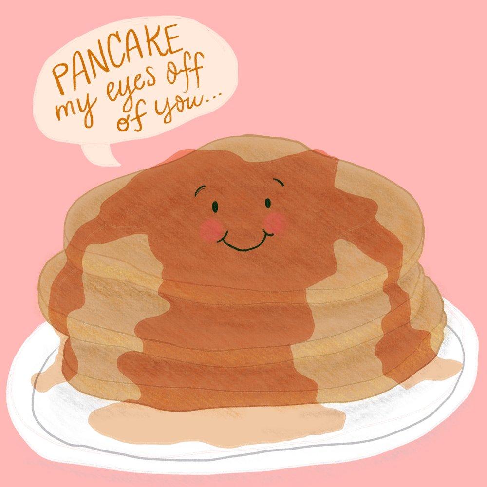 Punny Food Illustrations - Breakfast