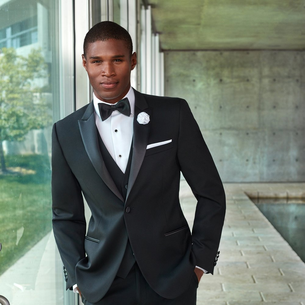 COUTURE 1901 JASPER BLACK SLIM FIT TUXEDO