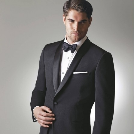 DAVID TUTERA CELEBRATION BLACK SLIM FIT TUXEDO