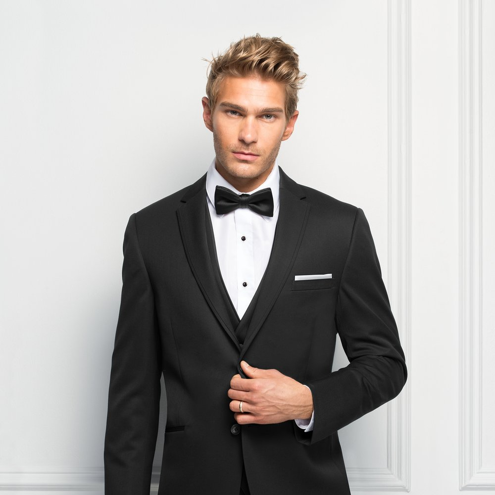 MICHAEL KORS BLACK STERLING SLIM FIT SUIT