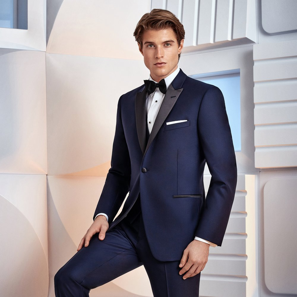 IKE BEHAR BLAKE NAVY SLIM FIT TUXEDO