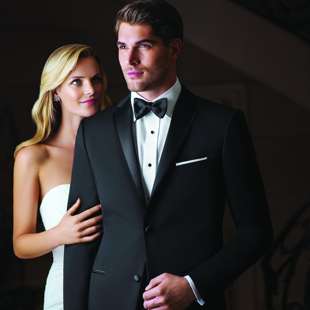 IKE BEHAR JAYDEN BLACK SLIM FIT TUXEDO
