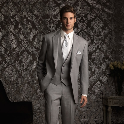 ALLURE BARTLETT HEATHER GREY SLIM FIT TUXEDO