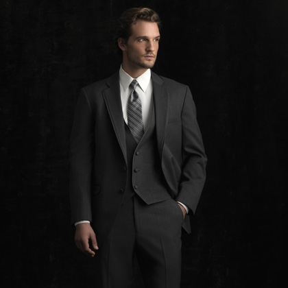 ALLURE BARTLETT STEEL GREY SLIM FIT TUXEDO