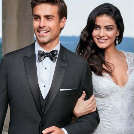 IKE BEHAR XAVIER CHARCOAL SLIM FIT TUXEDO