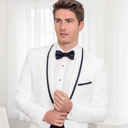 IKE BEHAR WAVERLY WHITE SIM FIT TUXEDO