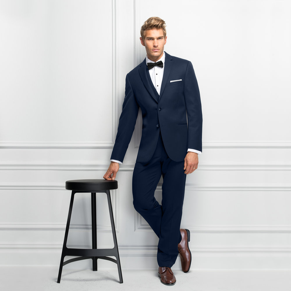 MICHAEL KORS NAVY STERLING SLIM FIT SUIT