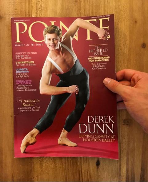 September 14th, 2016 We are so proud of Rock Alumnus, Houston Ballet demi-soloist, Derek Dunn. CONGRATULATIONS on your  Pointe cover!!! photo by  Derek Dunn