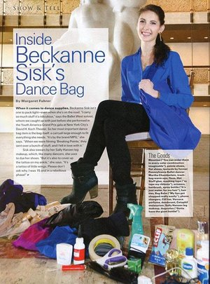 Inside Beckanne Sisk's Dance Bag  Pointe Magazine - July 25th, 2014