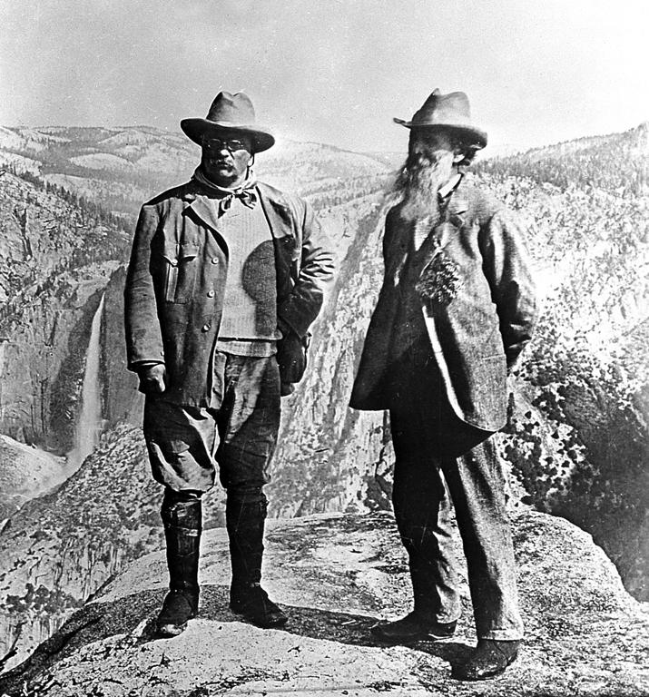 Theodore Roosevelt and John Muir/Wikimedia Commons