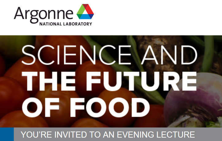 Poster for Science and the Future of Food.