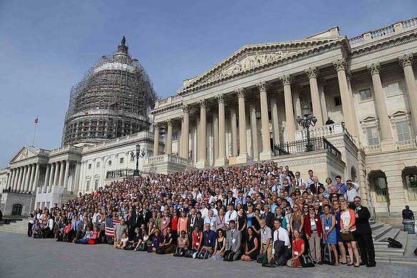 Citizens Cllimate Action in front of the Capitol building in Washington, D.C.