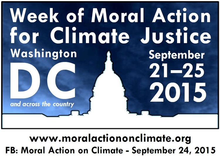 Poster for a Week o Moral Action for Climate Justice