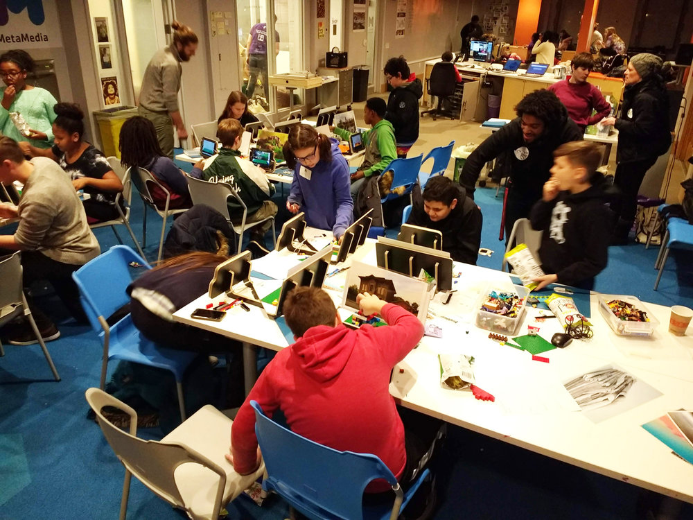 Seventeen middle school students learn about stop-motion at the McGaw YMCA in Evanston, on December 7.