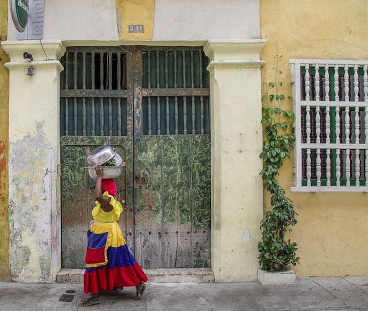 Palenquera Woman in Cartagena, Colombia - by ShonEjai