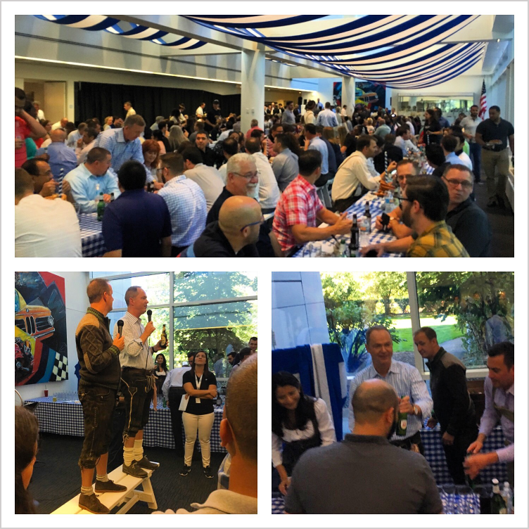 Celebrating Oktoberfest at BMW's North American headquarters.  - Woodcliff Lake, NJ., Oct, 2017