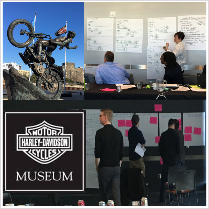 Conducting strategy alignment workshop at the Harley-Davidson Museum with teams from Marketing, Sales, Product and CRM  - Milwaukee, WI, Apr 2016