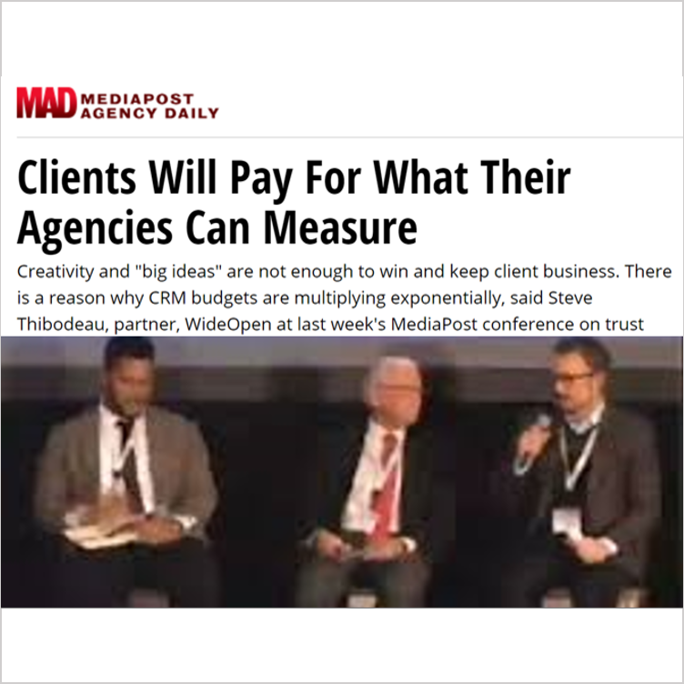 MediaPost Conference Panelist, Discussion on the Power of Business Relationships  - Washington, D.C., Oct 2016