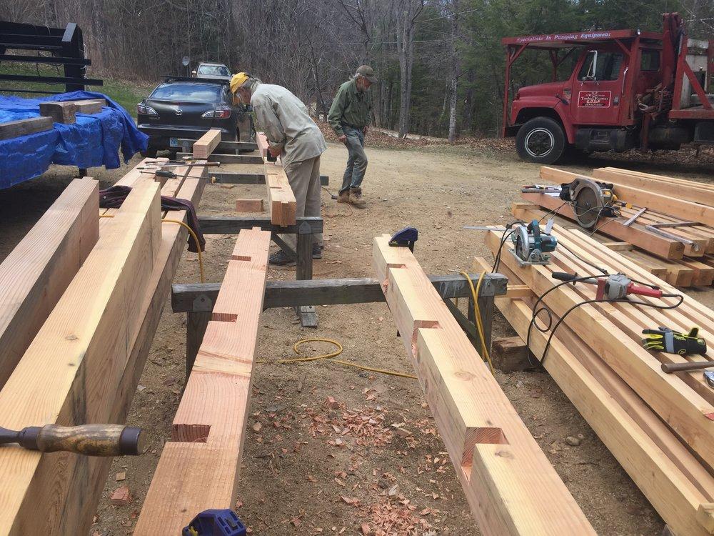 Lumber in the Yard