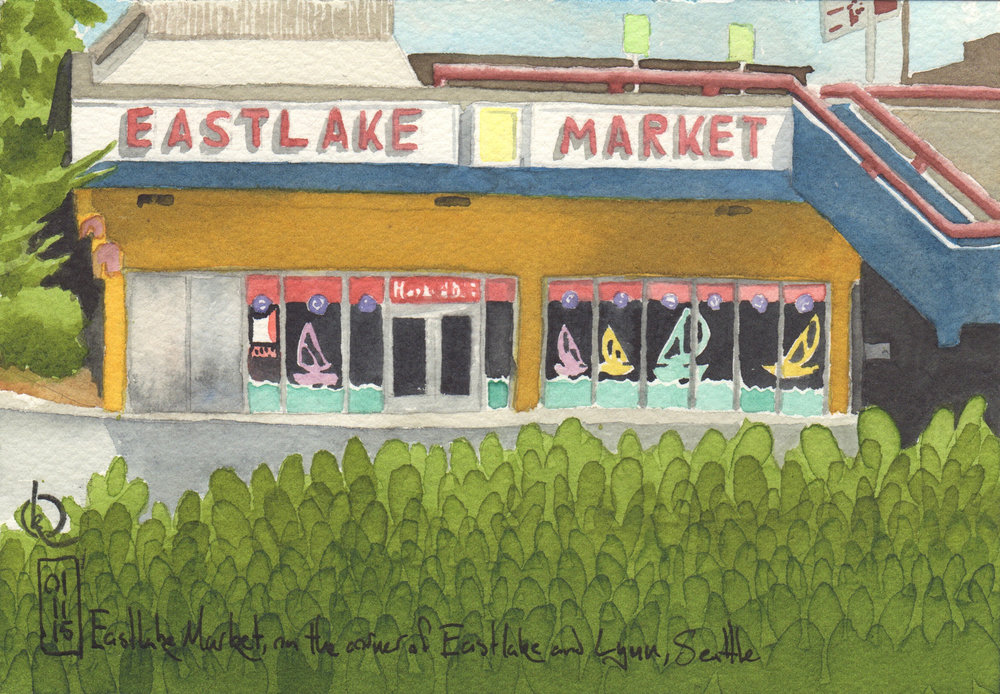 Eastlake Market, on the corner of Eastlake and Lynn, Seattle