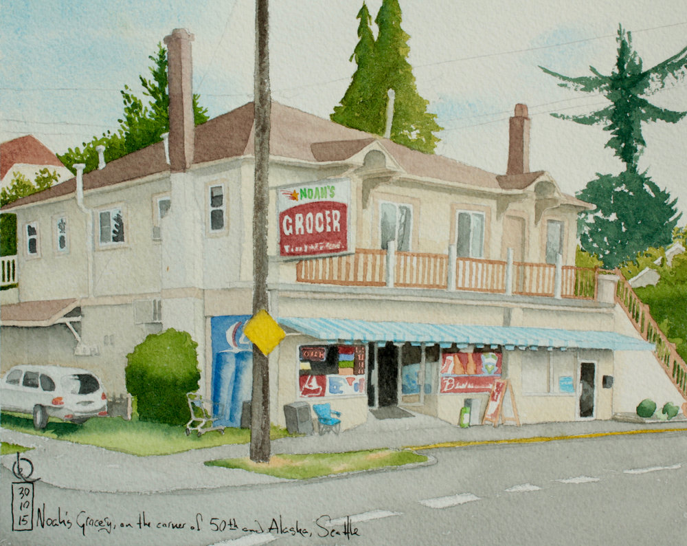 Noah's Grocery, on the corner of 50th and Alaska, Seattle