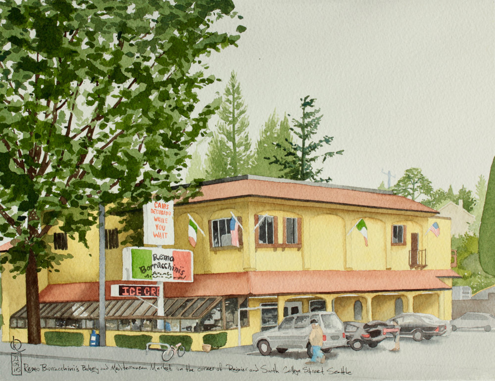 Remo Borracchini's Bakery and Mediterranean Market, on the corner of Rainier and South College Street, Seattle