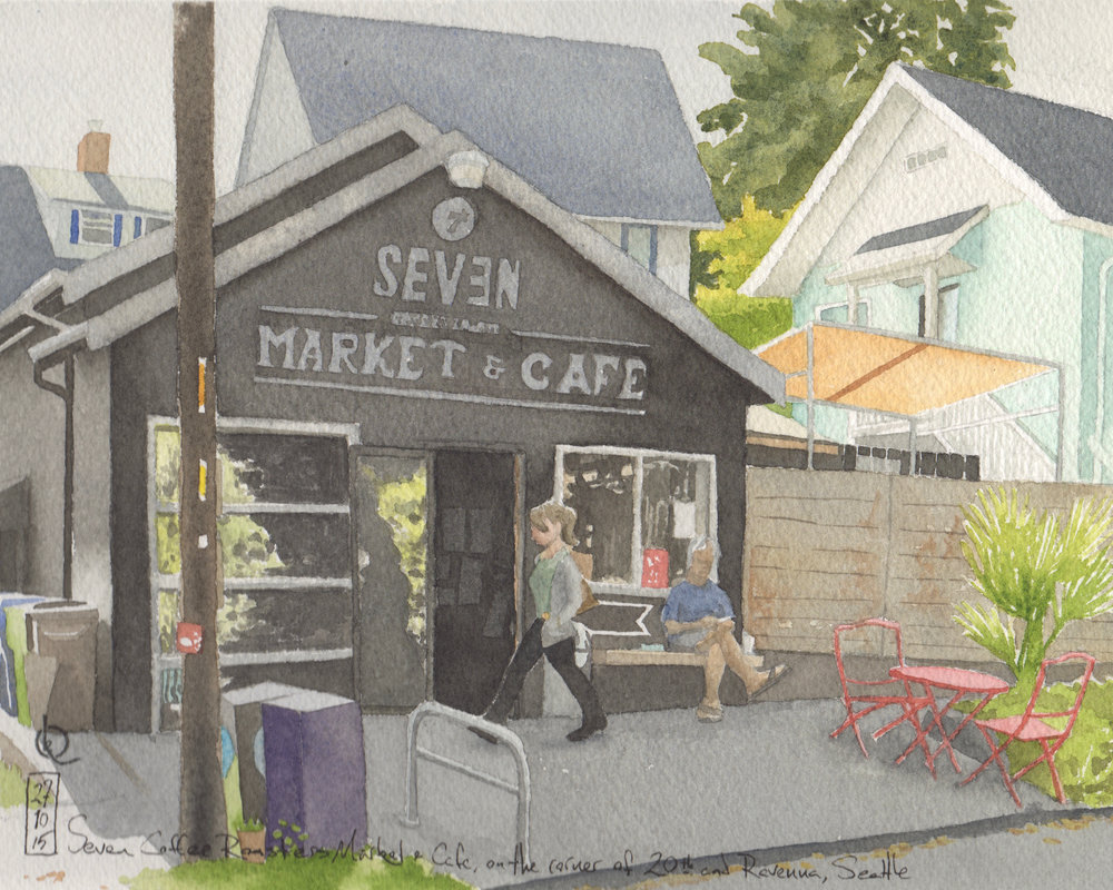 Seven Coffee Roasters Market & Cafe, on the corner of 20th and Ravenna, Seattle