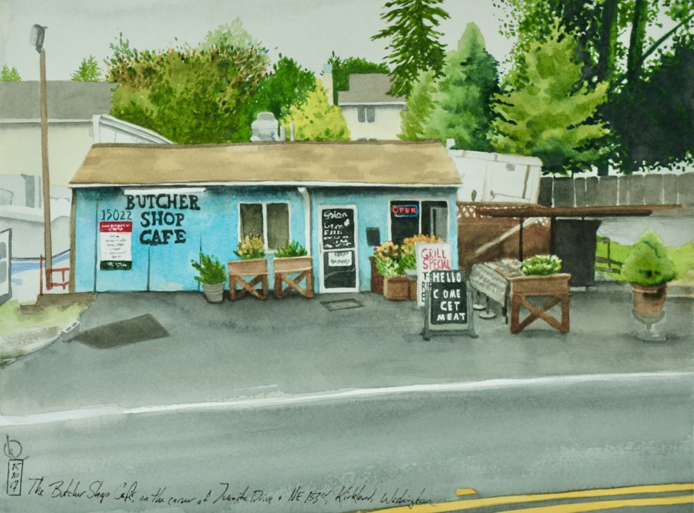 The Butcher Shop Cafe, on the corner of Juanita Drive and NE 153rd, Kirkland, Washington