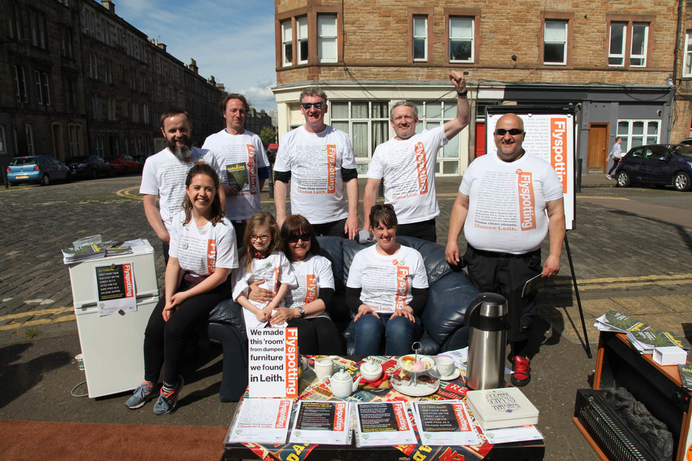 Flyspotting campaign launch. (Photo:  Deborah Mullen )