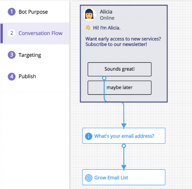 campaign bot trained to capture information - with flow diagram .png
