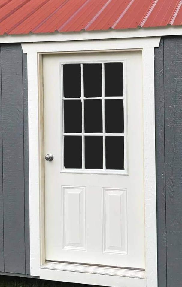 Fiberglass House Door, Prehung and Insulated $300 Add 9-Lite Glass to House Door $100 per door