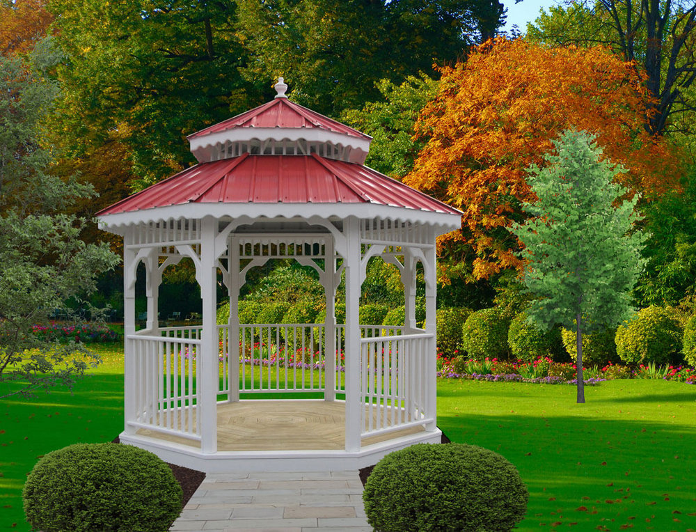 Wood Octagon Gazebo with Paint
