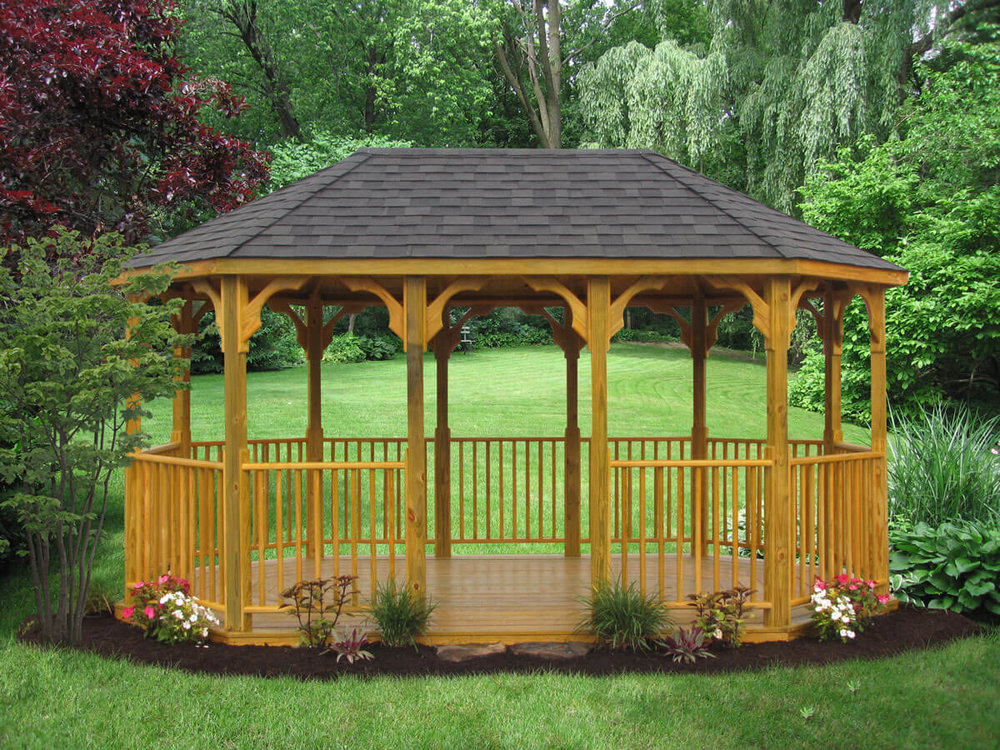 Wood Oblong Gazebo