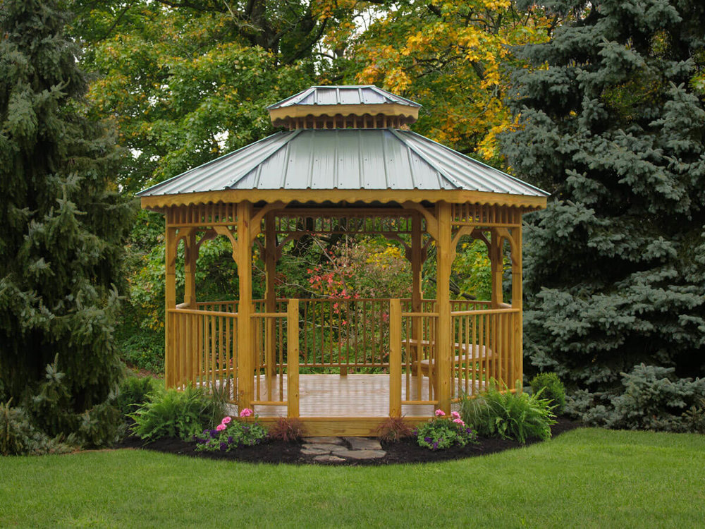 Wood Obglong Gazebo