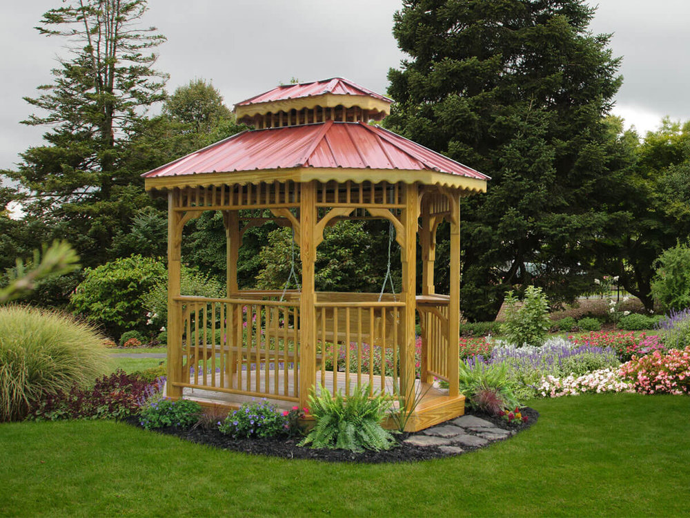 Wood Teahouse Gazebo