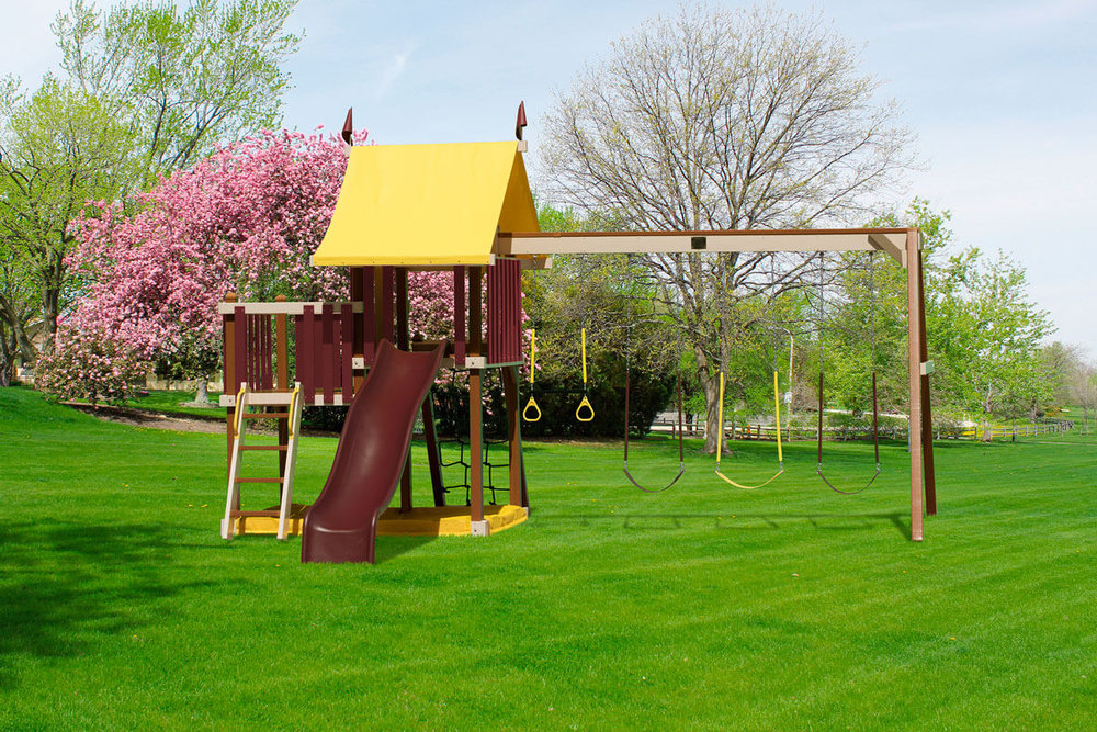 Dimensions: 18.5' L x 15.5' W Floor Heights = 4' & 5'  Swing Height = 8'