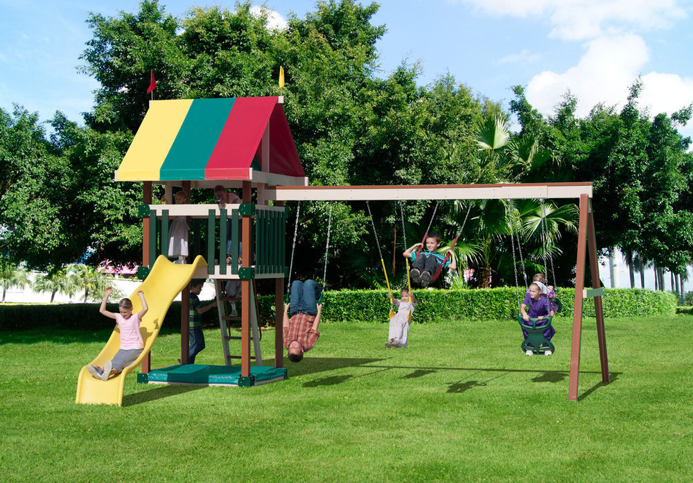 Dimensions: 19' L x 15' W Floor Height = 5' Swing Height = 8'