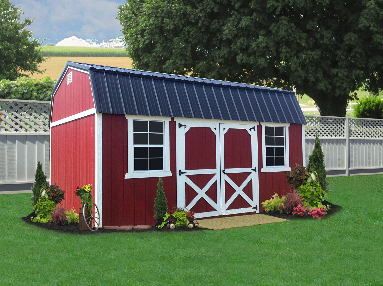 Liberty Storage Solutions Sheds More Outdoor Electrical Supply Garage Garden Electrics Power To W3 Painted Lofted Shed