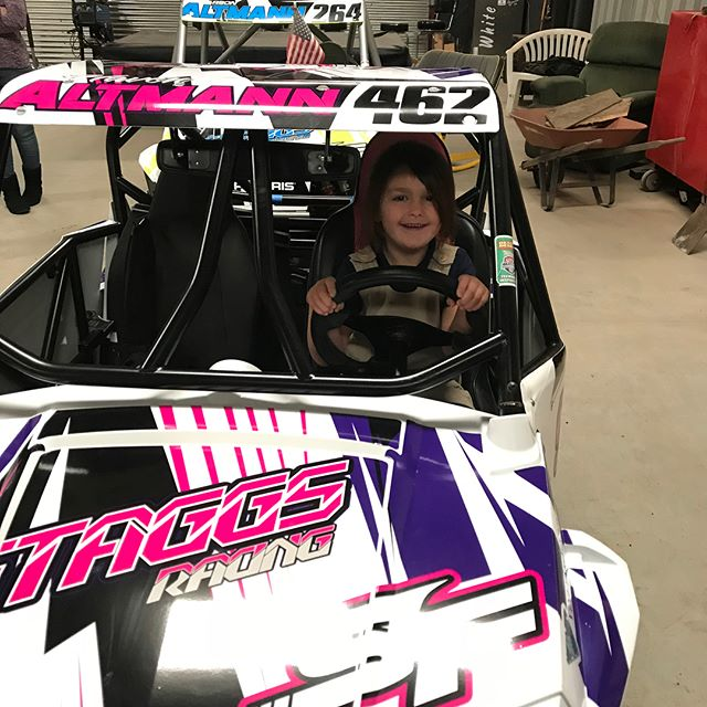 Haven Altmann new wrap on her @polarisrzr #rzr170  #girlswhorace #shesready #staggsracing #teamstaggs @magiksc  #magiksc