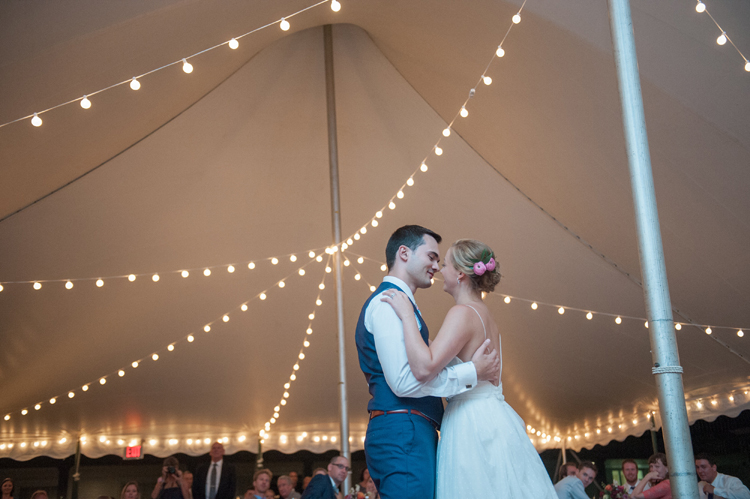 Florence Griswold Connecticut Wedding Under the Tent Lights