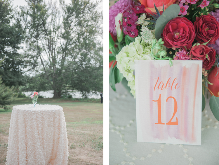 Watercolor Table Numbers by Connecticut Stationery designer Patti Murphy