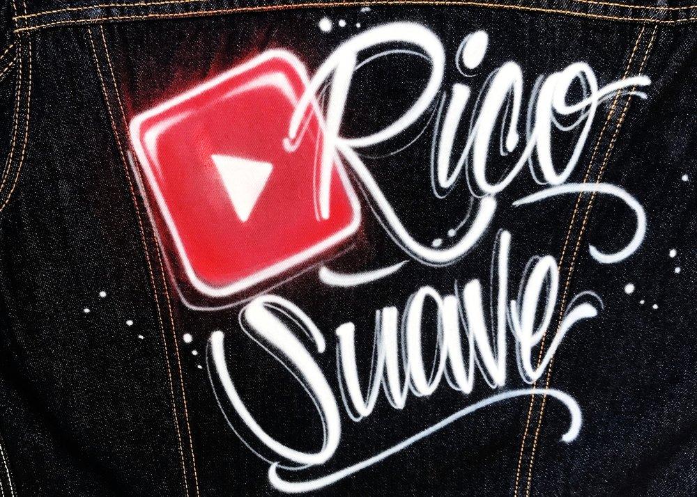 Rico Suave airbrush Levi's jacket