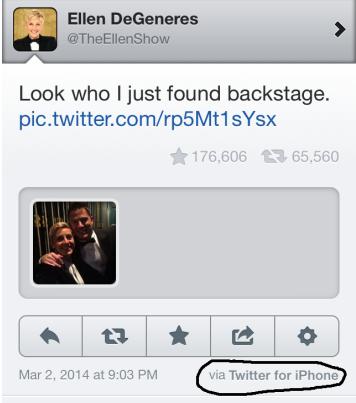 Ellen backstage