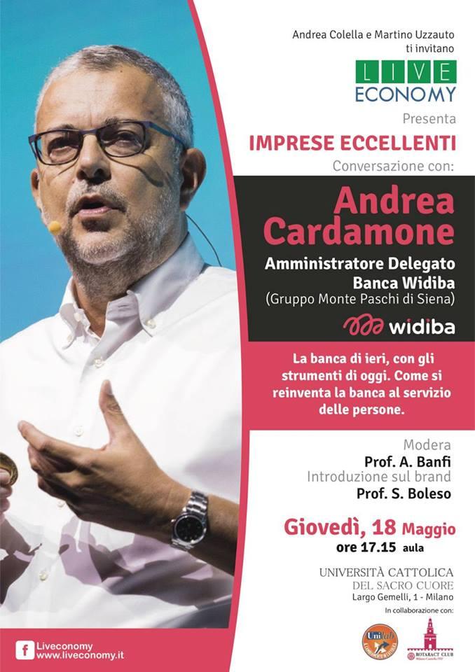 Locandina di Andrea Cardamone in Università Cattolica