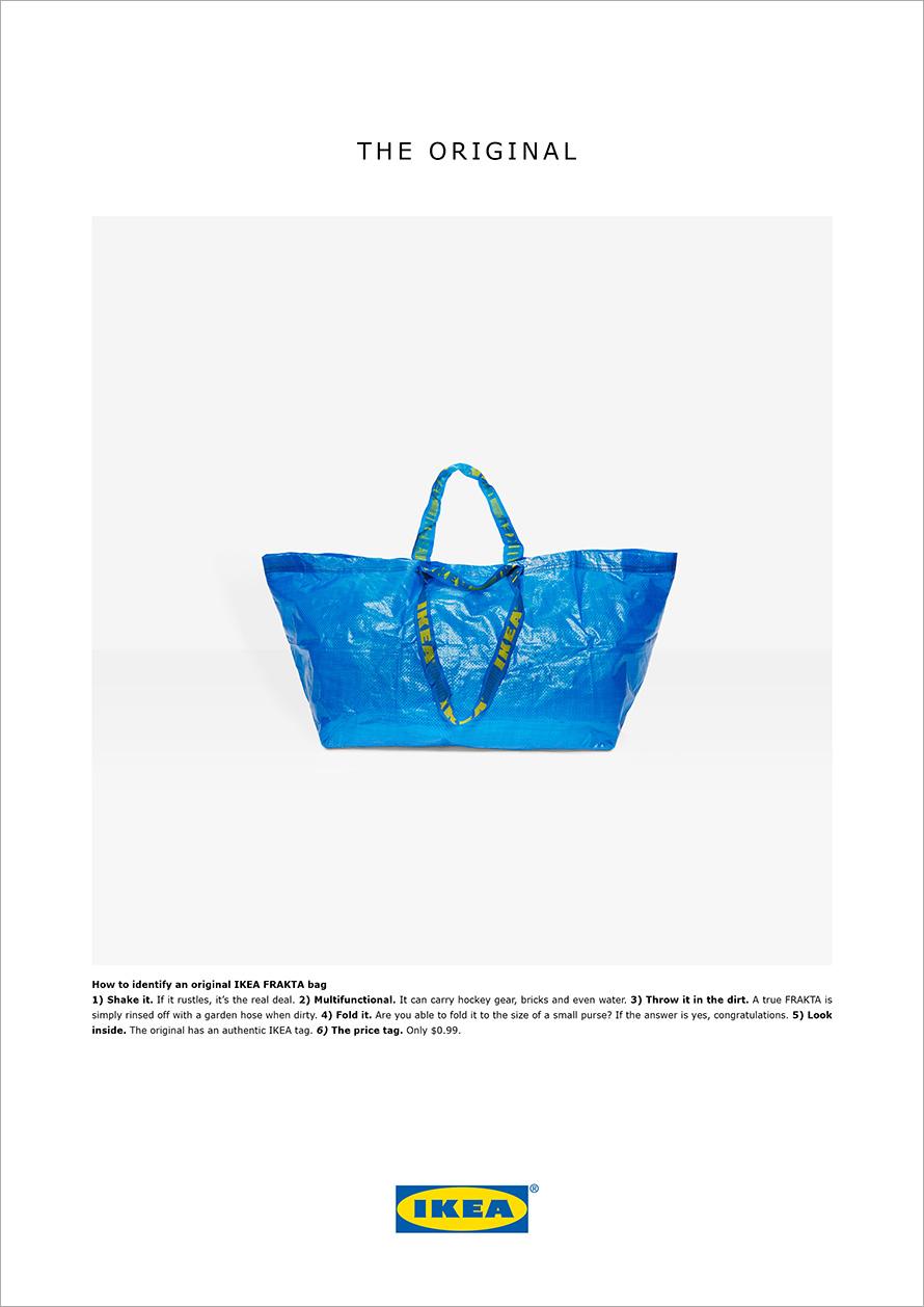 ADV Frakta, borsa di plastica blu di Ikea