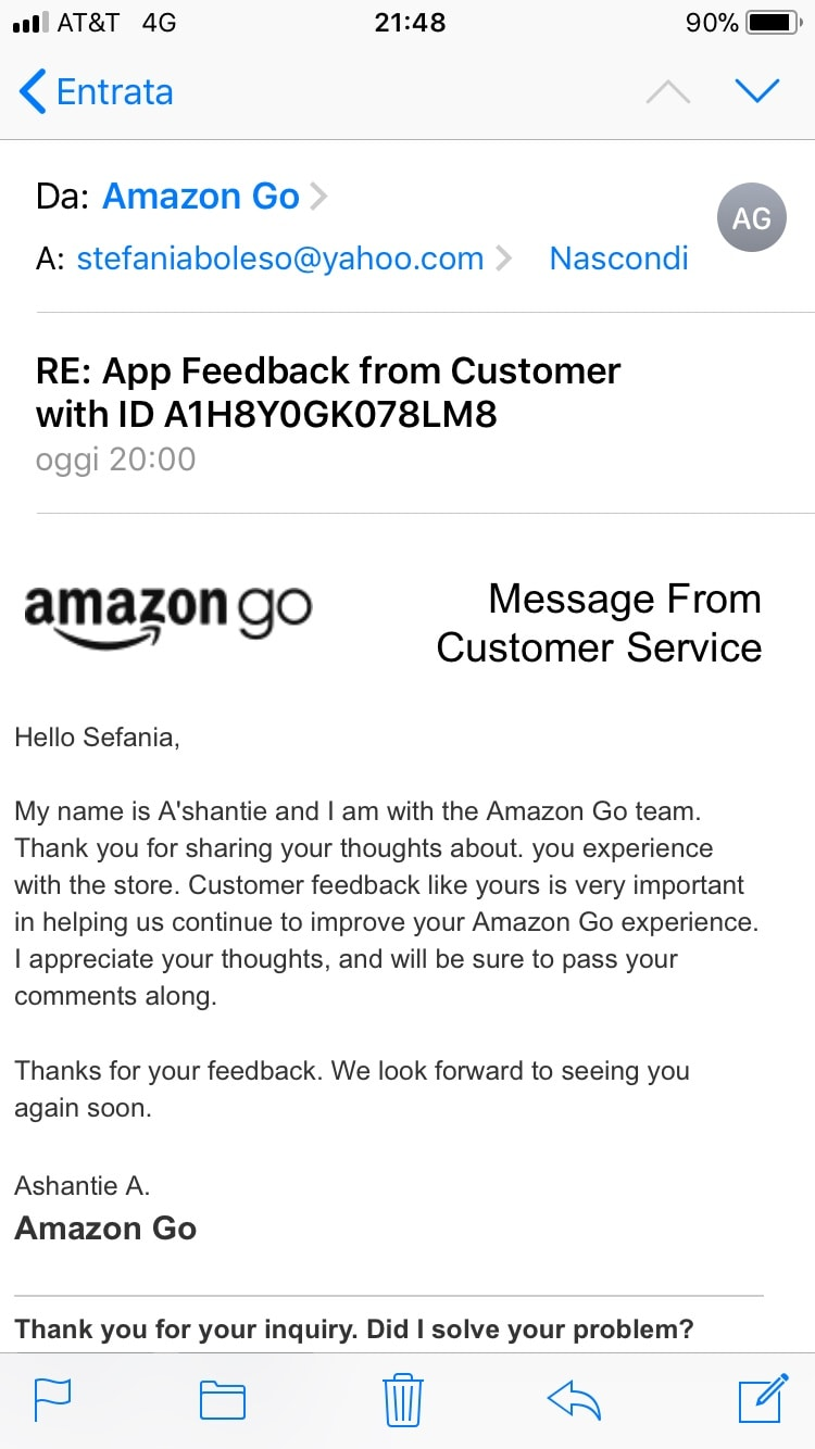 risposta Amazon Go